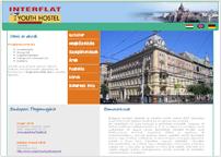 az Interflat Hostel weboldala
